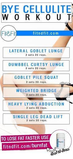 Bye Cellulite Workout! #fitness #bodybuilding #workout #gym #weightloss #fatloss #diet #loseweightfast #love #new #pinterest #london #newyork #uk #newyork #losangeles