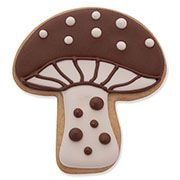 Decorated Mushroom Cookie - Woodland Cookie Cutters - Ann Clark Cookie Cutters