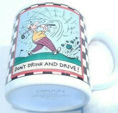 Golf Cup Mug Don't Drink and Drive Stoneware Carlton Cards Vintage EUC in Home & Garden, Kitchen, Dining & Bar, Dinnerware & Serving Dishes, Mugs Dog Mom Gifts, Gifts For Boss, Dog Lover Gifts, Mugs For Men, Mugs For Sale, Thermal Flask, Carlton Cards, Friends Coffee Mug, Dont Drink And Drive