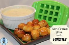 Bento for Kidlet: Soft Pretzel Bites with Queso Dip - going under cheap eats since all you have to really buy specially is the yeast