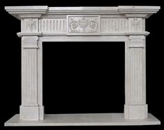 Fireplace Fronts, Marble Fireplace Mantel, Wood Mantle, Marble Fireplaces, Fireplace Surrounds, Fireplace Mantels, Fireplace Ideas, Sandstone Color, Column Design