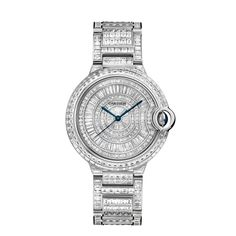 Ballon Bleu de Cartier diamond river watch, 36 mm Automatic, white gold, diamonds REF: HPI00511