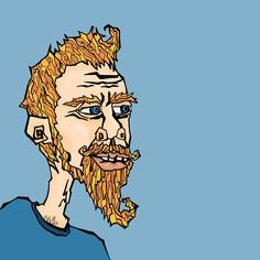 LUMBERSEXUAL. Hand drawn and digitally illustrated by www.uncouthkat.com #portrait #illustration #simple #contemporary
