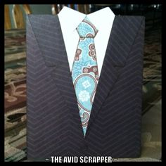 "Suit Card. Created using SVG file ""Man Cards"" by MyScrapChick.com and cut using my Cricut Expression ~ The Avid Scrapper"