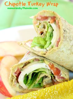 With only a few delicious ingredients this Chipotle Turkey Wrap is easy to make and really yummy! Featured on www.thebestblogrecipes.com