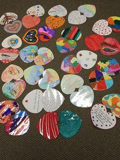 Varsity Acres Presbyterian Church, Calgary.  Hearts decorated by Sunday Schoolers!