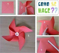 DIY - Pinwheel / Molinillo de viento - Fácil y Sencillo | Fácil y Sencillo