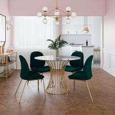 Get inspired by Glam Dining Room Design photo by COSMOLiving. Wayfair lets you find the designer products in the photo and get ideas from thousands of other Glam Dining Room Design photos. Luxury Dining Room, Dining Room Design, Green Dining Room, Dining Room Art, Small Dining Rooms, Dining Table Small Space, Dining Table In Living Room, Small Living, Boho Living Room