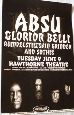 Absu Poster Concert $9.84 #Absu