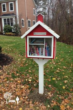 Another adorable schoolhouse Little Free Library! Jane S. Shewsbury, MA. The School Street Library was made as a fun way to encourage reading and for meeting more neighbors in the Dean Park area of Shrewsbury.