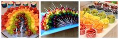 Rainbow party ideas food fruits Online Birthday Invitations: www.labellecarte.com/en