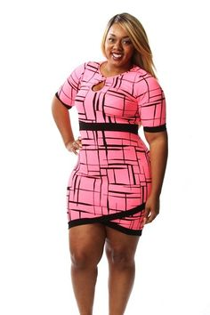 05171fcea1f Plus Size Line Print Overlap Dress Availability  In stock.  30.95 - See  more at