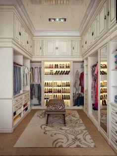 Luxury home Design - Closets modernos por sweet home design Walking Closet, Walk In Closet Design, Closet Designs, Sweet Home Design, Beautiful Closets, House Beautiful, Dressing Room Design, Dressing Rooms, Dressing Room Closet