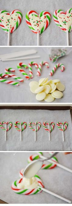 Candy Cane Hearts | DIY Christmas Gifts for Family Inexpensive | Handmade Christmas Gifts for Friends