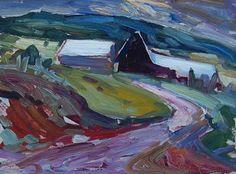 Rang St-Antoine, Baie St-Paul, RICHARD, René Abstract Landscape, Landscape Paintings, Landscapes, Baie St Paul, Canada, Garden Painting, Sculpture, Objet D'art, Canadian Artists