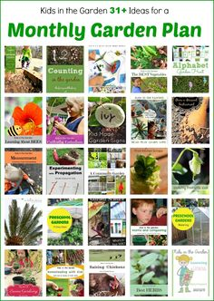 Monthly garden planner for parents and teachers of young children, ages 0-7