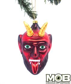 Krampus The Christmas Devil Glass Ornament – Middle of Beyond
