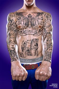 impressive full front tattoo