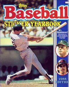 1988 Topps Baseball Sticker Yearbook
