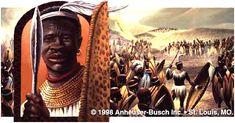 Grandes reis e rainhas de Africa - SHAKA - Rei dos Zulus - (1818-1848)
