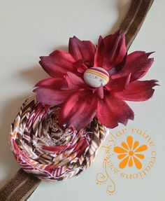 FALL Chevron & Daisy Headband  by SkylarRaine on Etsy #chevronheadband #daisyheadband #fallheadband