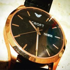 It's a rose gold kind of day. #croftwatches #fashion #style #gold #watchesofinstagram
