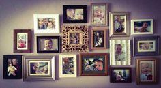 "Multi frame wall ""many frames show many memories"""