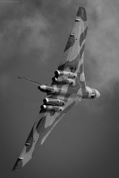 Avro Vulcan.... This flew at about an ear splitting, heart-pounding 200 ft overhead at an air show in Liverpool in 60's ........ I've been fascinated by aircraft ever since....... Evie