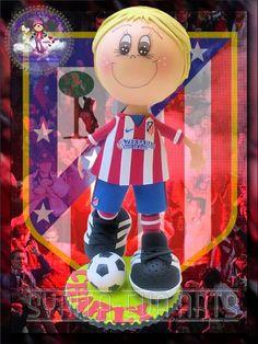 Este  fofu es para un forofo del Atlético de Madrid. Charly, espero que sea  de tu agrado. Rosi, gracias por confiar en mi.  Un besote gor...