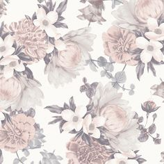 This wallpaper immediately makes us think of a dreamy bedroom with crisp white linens and soft light. The floral pattern is bold enough to make a statement, yet muted enough to bring a sense of calm to your space.