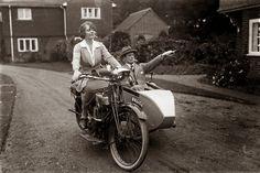 Madge Saunders and her husband, British comic actor Leslie Henson, 1920.