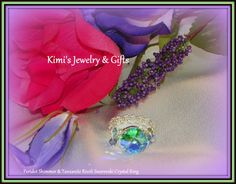 Ring   Lori Love Peridot Shimmer by kidalski on Etsy, $40.00