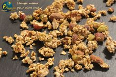 Granola Maison Healthy, Healthy Recipes, Healthy Food, Breakfast Recipes, Biscuits, Almond, Stuffed Mushrooms, Brunch, Diet
