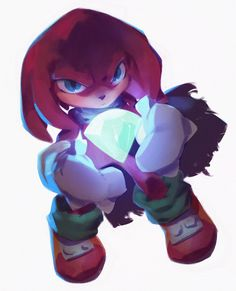 Knuckles the Echidna by nicholaskole.deviantart.com on @DeviantArt Drawing Games, Comic Drawing, Sonic The Hedgehog, Sonic Fan Characters, Cartoon Characters, Character Concept, Character Design, Concept Art, Sonic Franchise