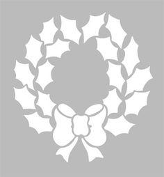 Pochoir Adhésif 15 x 14 cm PETITE COURONNE NOEL