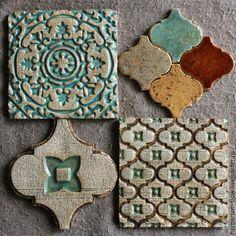Купить Марокко.плитка - керамическая плитка, керамика ручной работы, керамика herbarium, изразцы, орнамент
