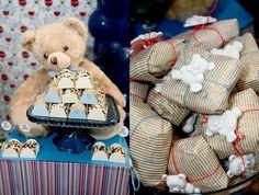 Festa Ursos! Um clássico em azul e bege. (Little bear party)