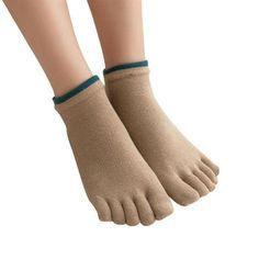 Adaptable 1 Pair Mens Cotton Toe Sock Pure S Five Finger Socks Breathable 6 Colors In Pain Underwear & Sleepwears