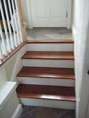 Carpet Landing Transition To Wood Stair Google Search Wood | Carpet Landing Wooden Stairs | Patterned | Builder Grade | Light Wood | Red Oak Wood | Hardwood