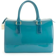 Furla Handbag, Candy Bauletto Satchel. love the turquoise color. found on #polyvore. #bags #women