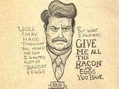 The 11 Greatest Pieces of Ron Swanson Fan Art from Look What I Found