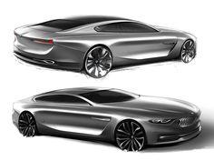 BMW Pininfarina Gran Lusso Coupe Design Sketches