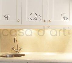 Kitchen wall art - Kitchen Symbols - Wall Decals , Home WallArt Decals Kitchen Icon, Kitchen Labels, Kitchen Cupboards, Kitchen Ideas, Kitchen Stickers, Kitchen Wall Decals, Wall Stickers, Vinyl Wall Art, Vinyl Decals