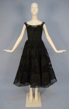 Veil Chapman Cocktail Dress, 1950's