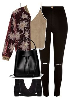"""Untitled #3943"" by london-wanderlust ❤ liked on Polyvore featuring River Island, Zara, Yves Saint Laurent, Stuart Weitzman and 3.1 Phillip Lim"
