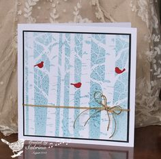 DTGD13 Down in the Birch Wood by Cook22 - Cards and Paper Crafts at Splitcoaststampers