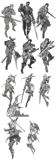 Character designs - drawing reference for holding a sword: Character Design Cartoon, Character Design References, Character Design Inspiration, Character Poses, Character Concept, Character Art, Comic Japan, Sword Poses, Game Concept Art