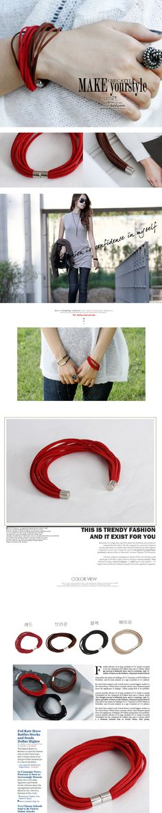 multi strap suede bracelet - im guessing it is easy to diy