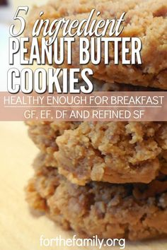 These easy-to-make cookies are both delicious and healthy. These cookies are a win-win! Feel good about what's in them, and your kids get cookies for breakfast! Unless you are allergic to nuts, they are basically allergy friendly with no wheat, no dairy,