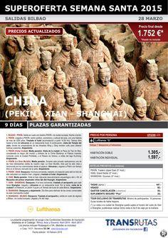 CHINA/ 9 días ¡¡Superoferta Semana Santa: 28 marzo - Plazas garantizadas!! sal. Bilbao ultimo minuto - http://zocotours.com/china-9-dias-superoferta-semana-santa-28-marzo-plazas-garantizadas-sal-bilbao-ultimo-minuto-6/